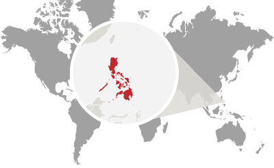 Philippines in world map
