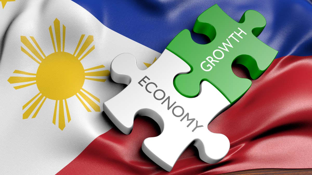 Economy and growth on the Filipino flag