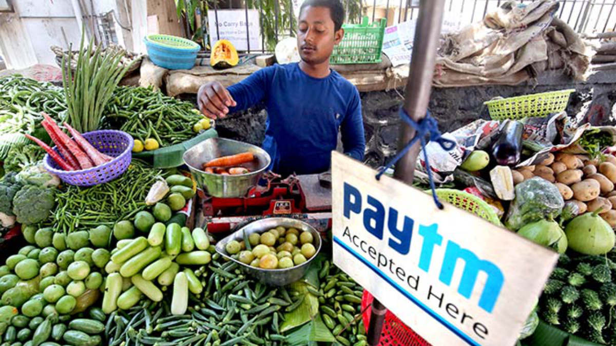 Paytm accepted at produce stand