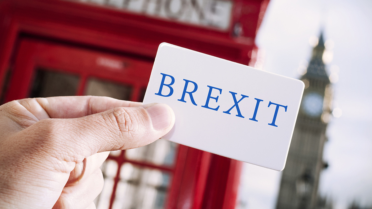 Brexit card in London