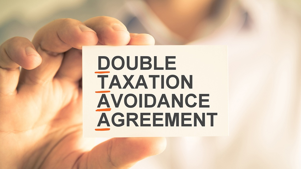 card displaying double taxation avoidance agreement